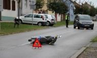 Ozlijeđen motociklista pri padu u Ulici Pavla Radića