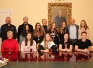 Članovi Gimnastičkog društva Sokol na prijemu kod gradonačelnika Puljašića