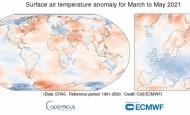Najhladnije proljeće u Europi od 2013., dok su svibanjske globalne temperature iznad prosjeka